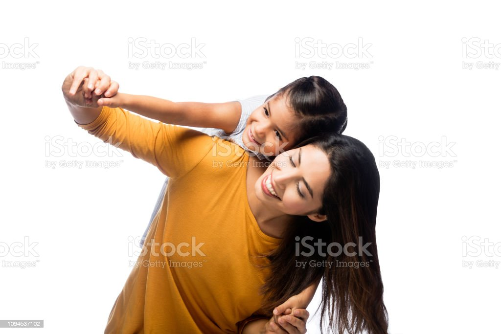 Playful toddler and mother stock photo