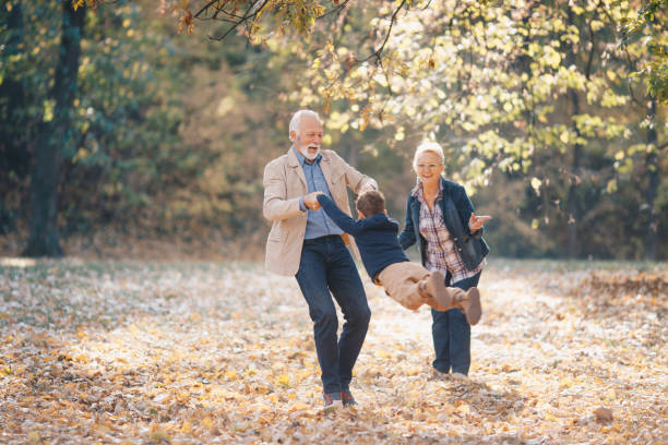 Playful with grandparents Playful with grandparents grandson stock pictures, royalty-free photos & images