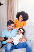 istock Playful young family at home. 540611538