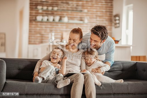 istock Playful young family 523819738