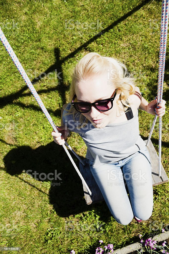 Playful young woman royalty-free stock photo