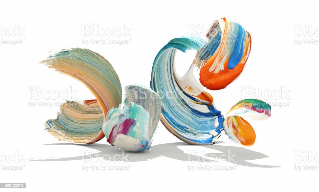 Игриво мазки кистью - Стоковые фото Краска роялти-фри