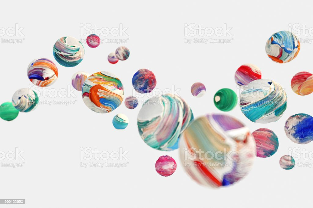 playfully painted spheres - Royalty-free Art Stock Photo
