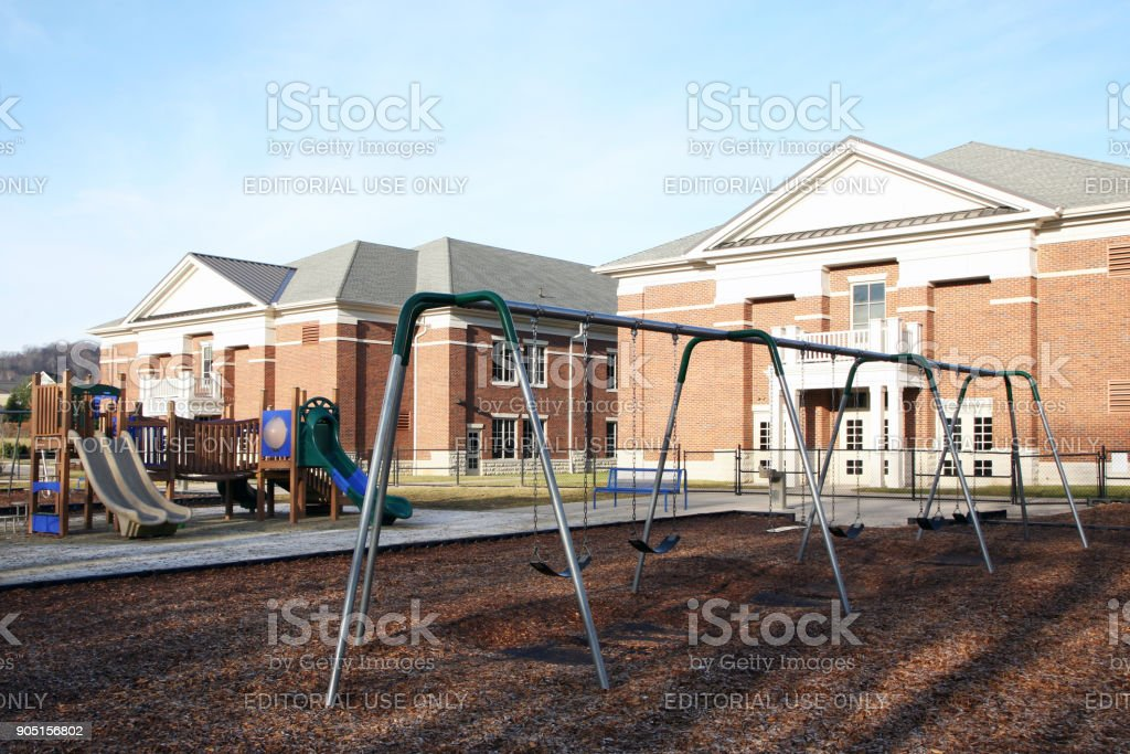 Playground at a school stock photo