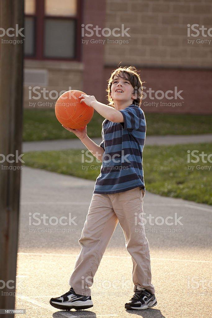 Playground basketball royalty-free stock photo
