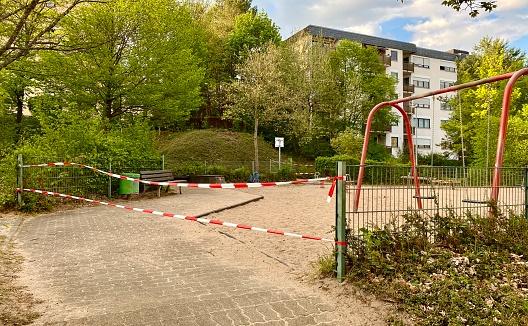 Playground closed off because of the coronavirus (COVID-19)