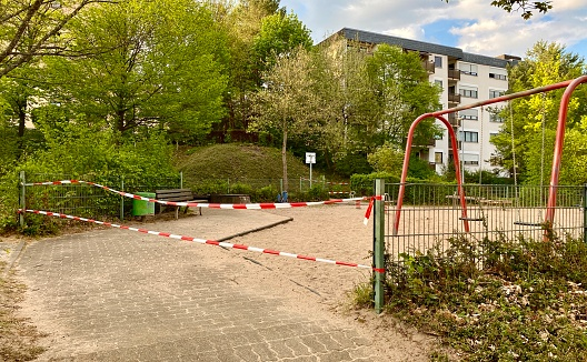 Playground closed off because of the coronavirus (COVID-19)