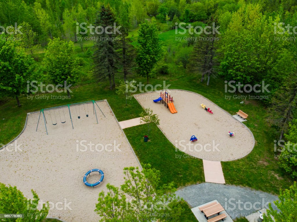 Speeltuin, drone weergave - Royalty-free Atleet Stockfoto