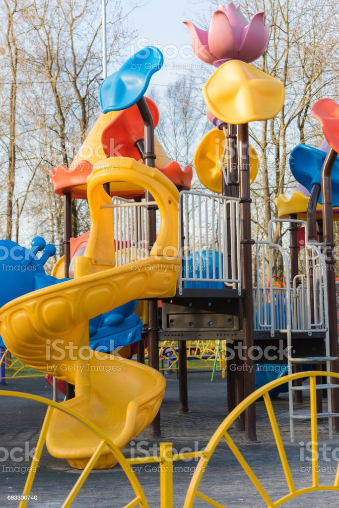 Playground for children foto stock royalty-free