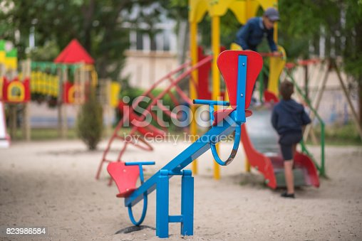 656743520istockphoto Playground for small children, recreational facilities 823986584