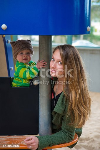 471164880 istock photo Playground fun Mother and Son 471850865