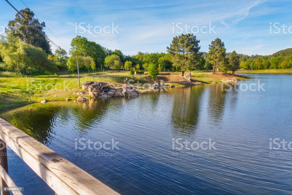 Playground in Cachamuina reservoir royalty-free stock photo