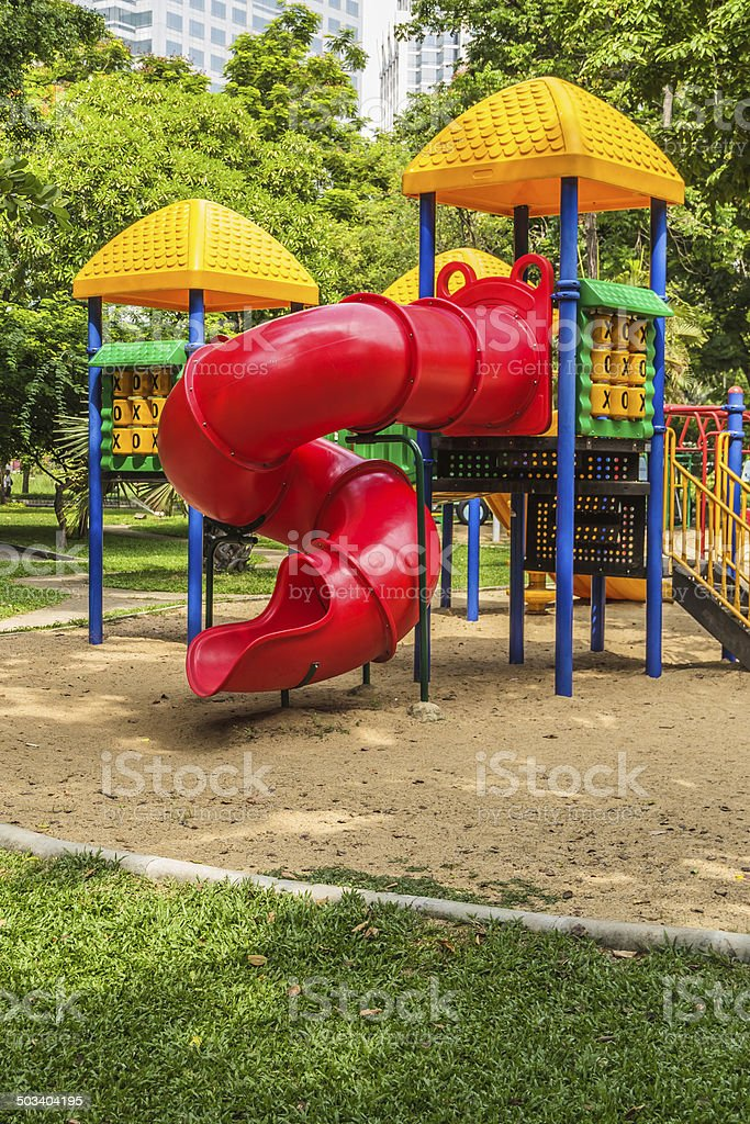 Playground in Park stock photo