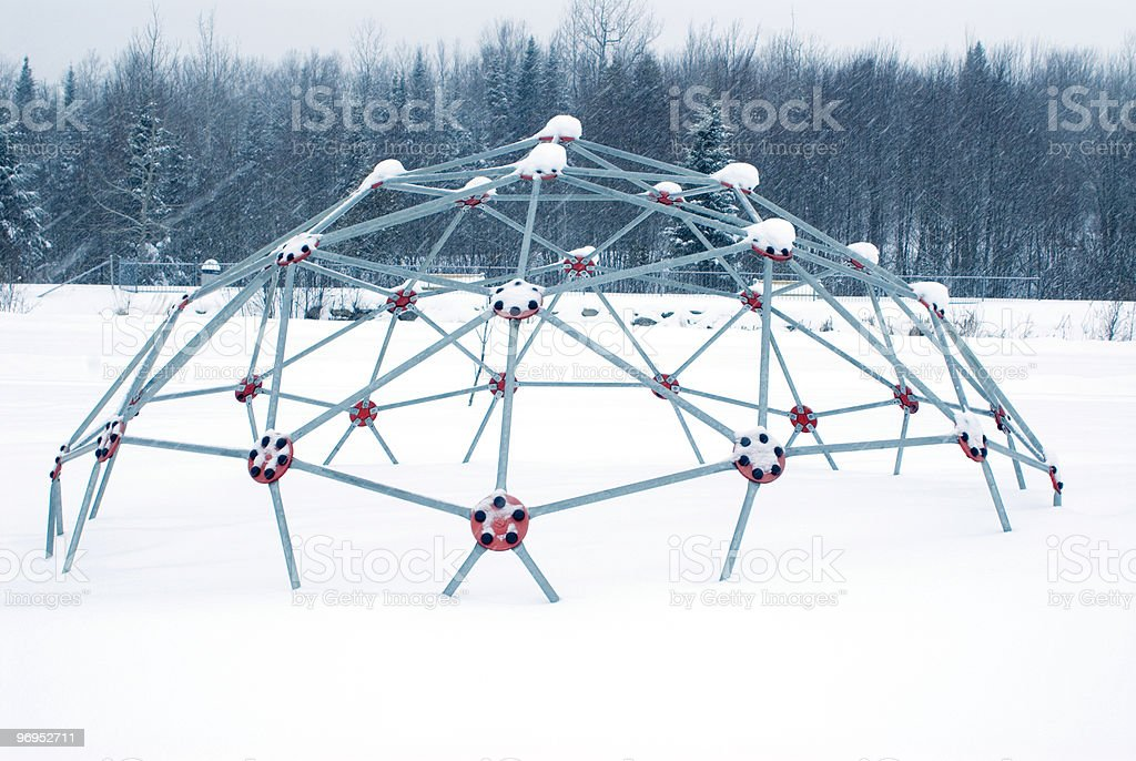 playground in winter royalty-free stock photo