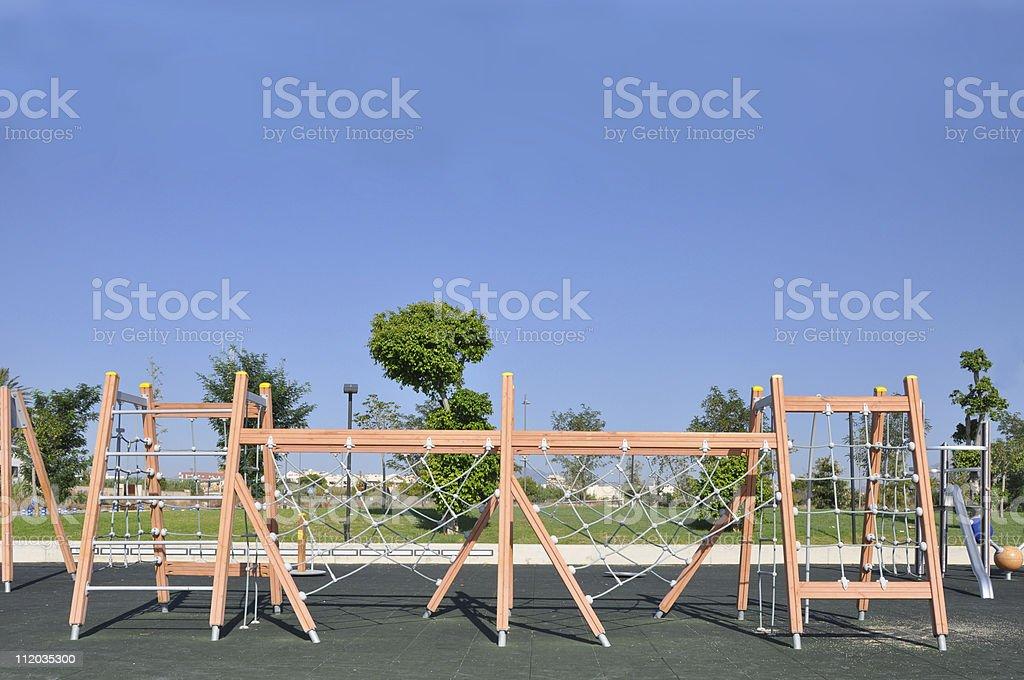 Playground Jungle Gym Exercise Fitness Agility Equipment stock photo