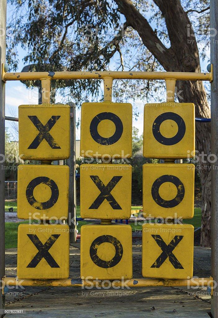 Playground Naughts & Crosses stock photo