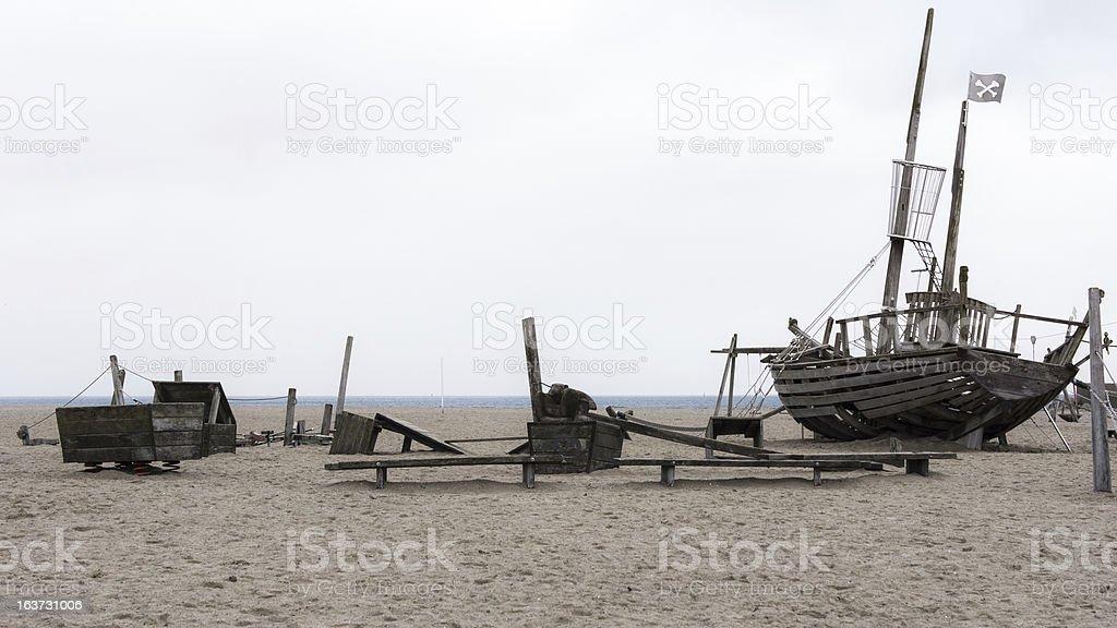 Playground on the beach stock photo