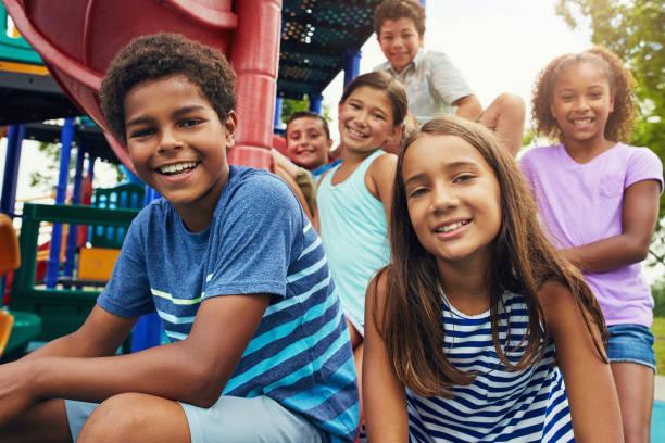 Playground pals stock photo