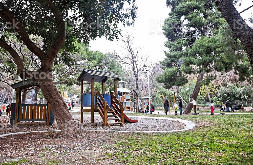 Playground scenery in the afternoon royalty-free stock photo