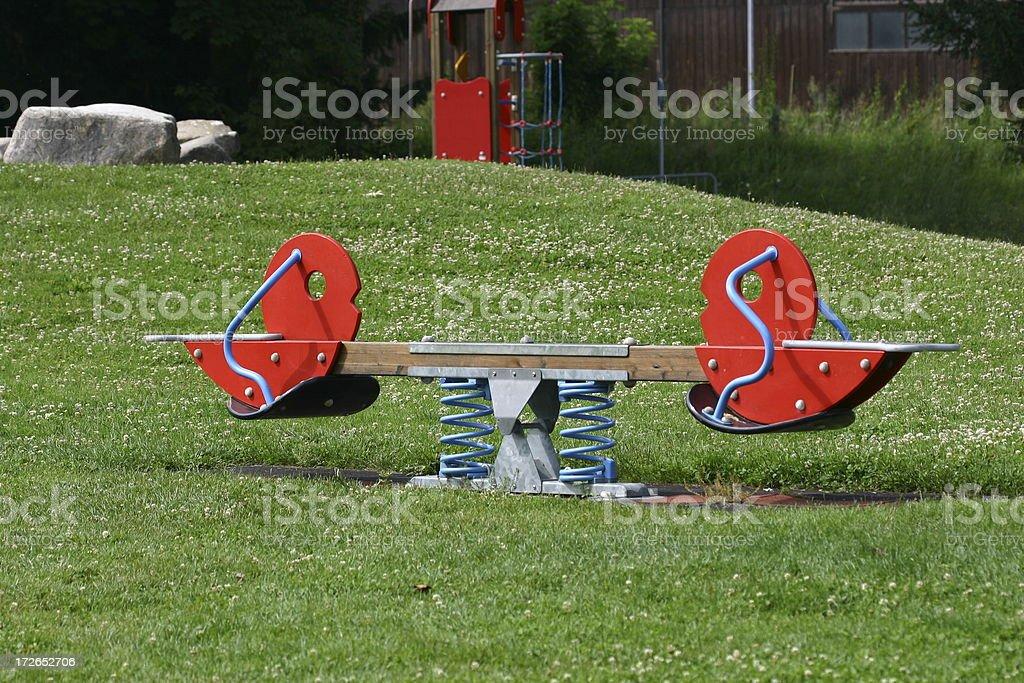 Playground Seesaw stock photo