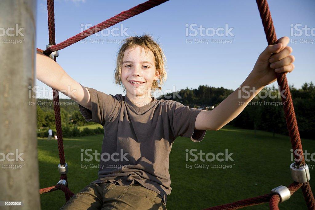 Playground Series: Sitting on top royalty-free stock photo