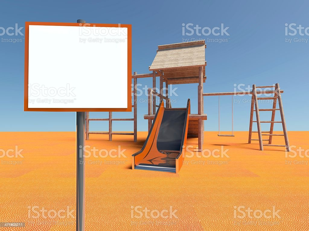 Playground without children with empty frame royalty-free stock photo