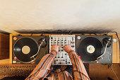 istock Playing a DJ Deck 1217807317