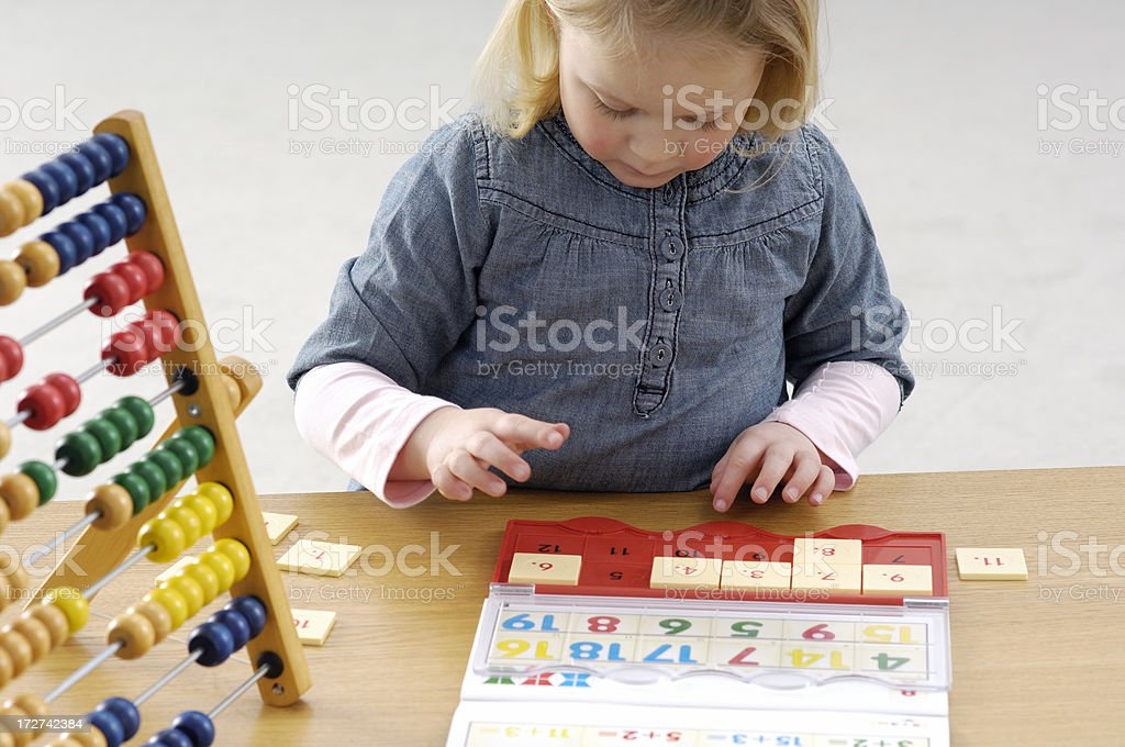 Playing a learning game royalty-free stock photo
