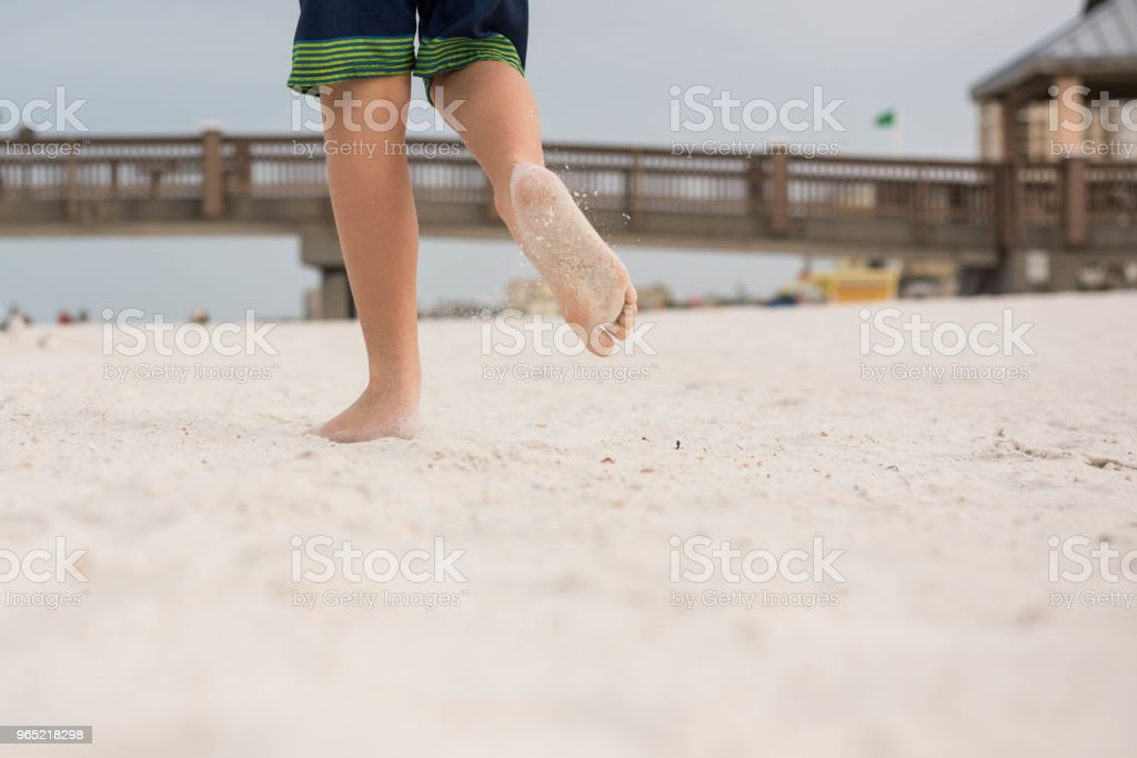 Playing and running on the beach royalty-free stock photo