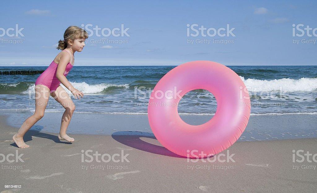 게임하기 해변이나 royalty-free 스톡 사진