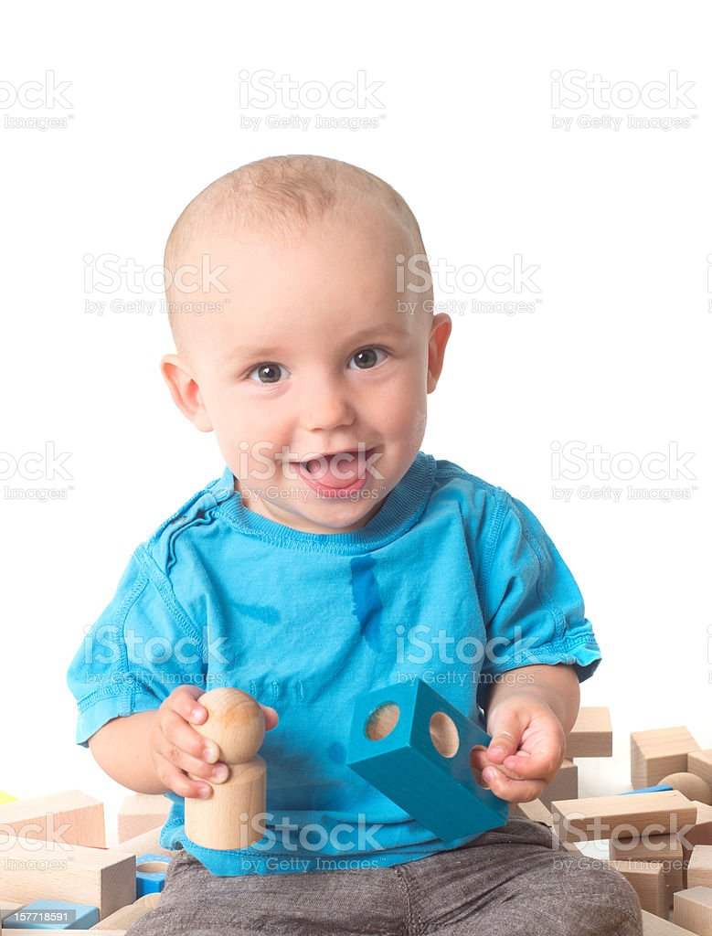 Playing Baby royalty-free stock photo