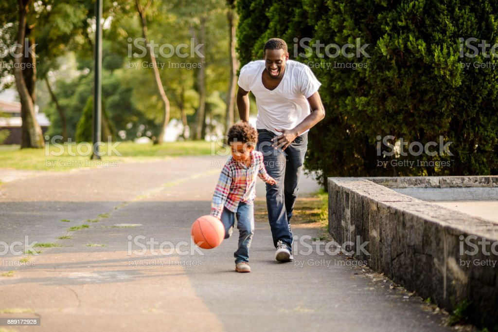 Playing basketball. stock photo