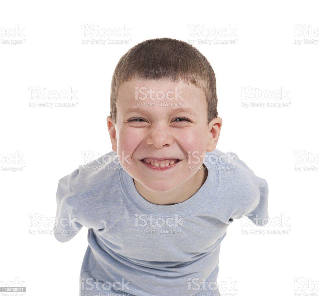 playing boy on white royalty-free stock photo