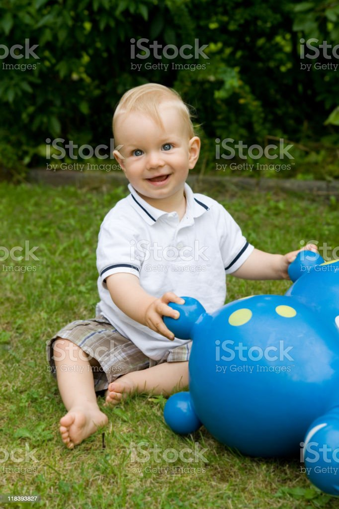 Playing boy royalty-free stock photo