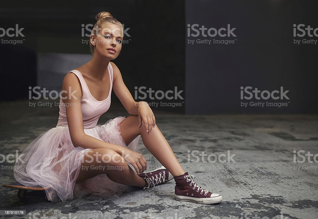 Playing by her own rules stock photo