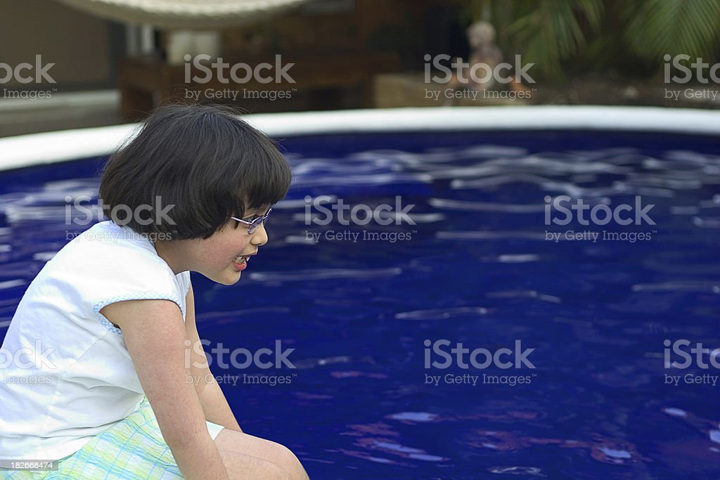 playing by te pool royalty-free stock photo