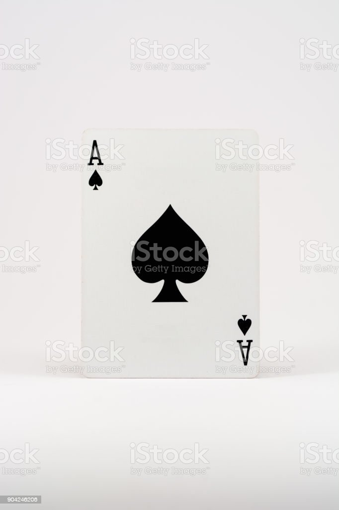 Playing card (white background) - Ace of spades – zdjęcie
