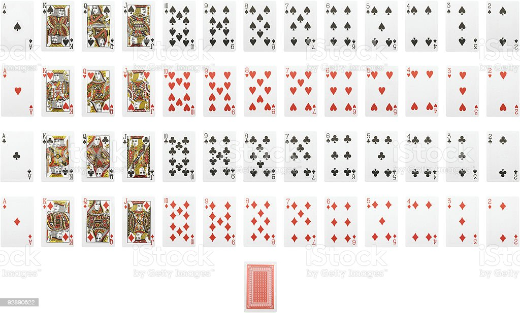 Playing Card Deck stock photo