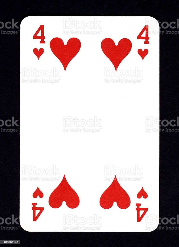 Playing Card: Four of Hearts foto