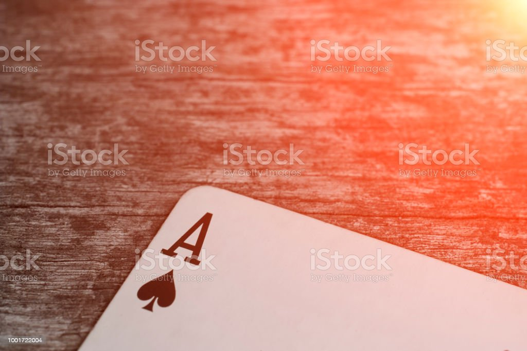 Playing card, game abstract: ace of spades – zdjęcie