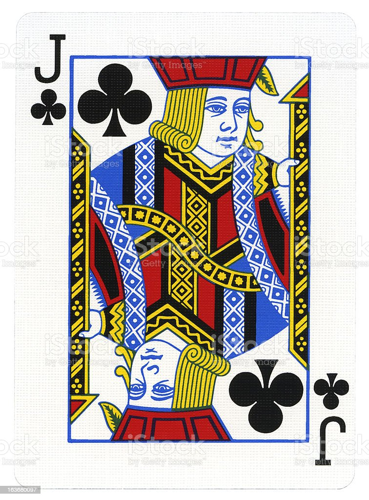 Playing Card - Jack of Clubs stock photo