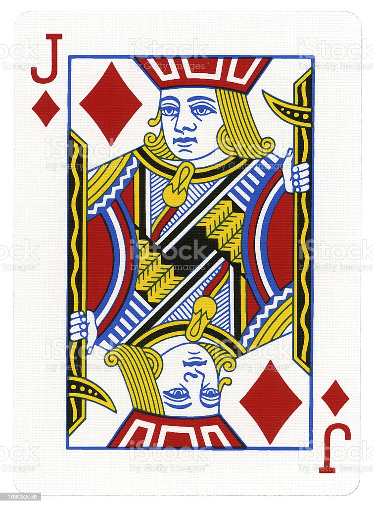 Playing Card - Jack of Diamonds stock photo