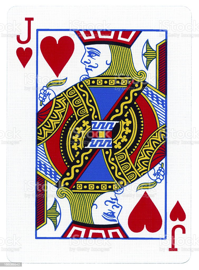 Playing Card - Jack of Hearts stock photo