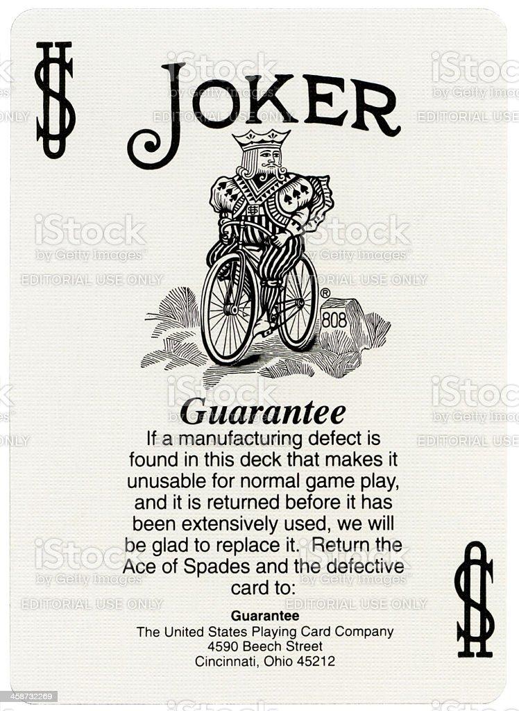 Playing Card - Joker XXXXL stock photo