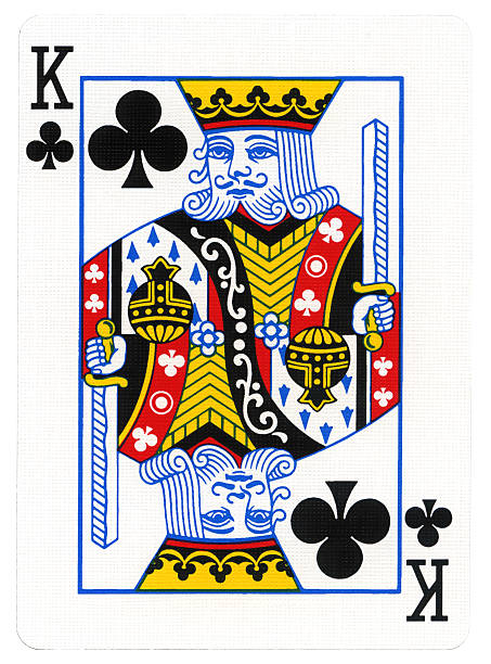 spielkarte kreuz mit king-size-bett - hochkönig stock-fotos und bilder