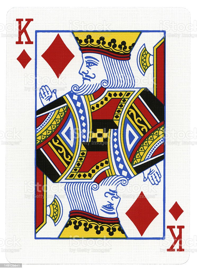 Playing Card - King of Diamonds stock photo