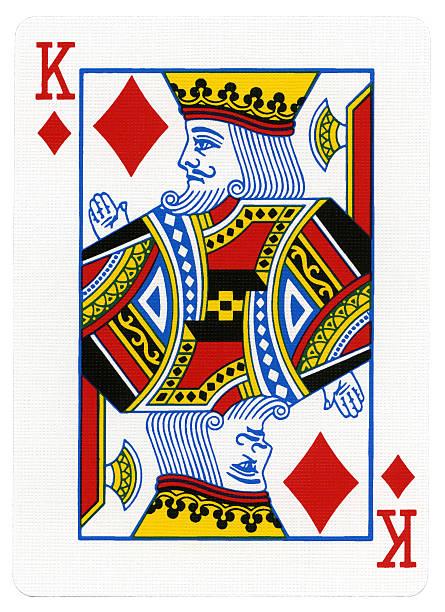 spielkarte-karo-zimmer mit king-size-bett - hochkönig stock-fotos und bilder