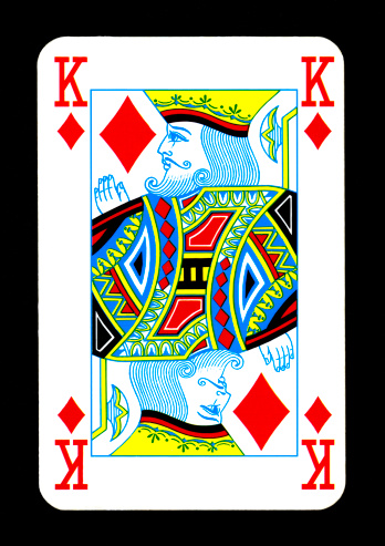 Playing Card King Of Diamonds Stock Photo - Download Image ...