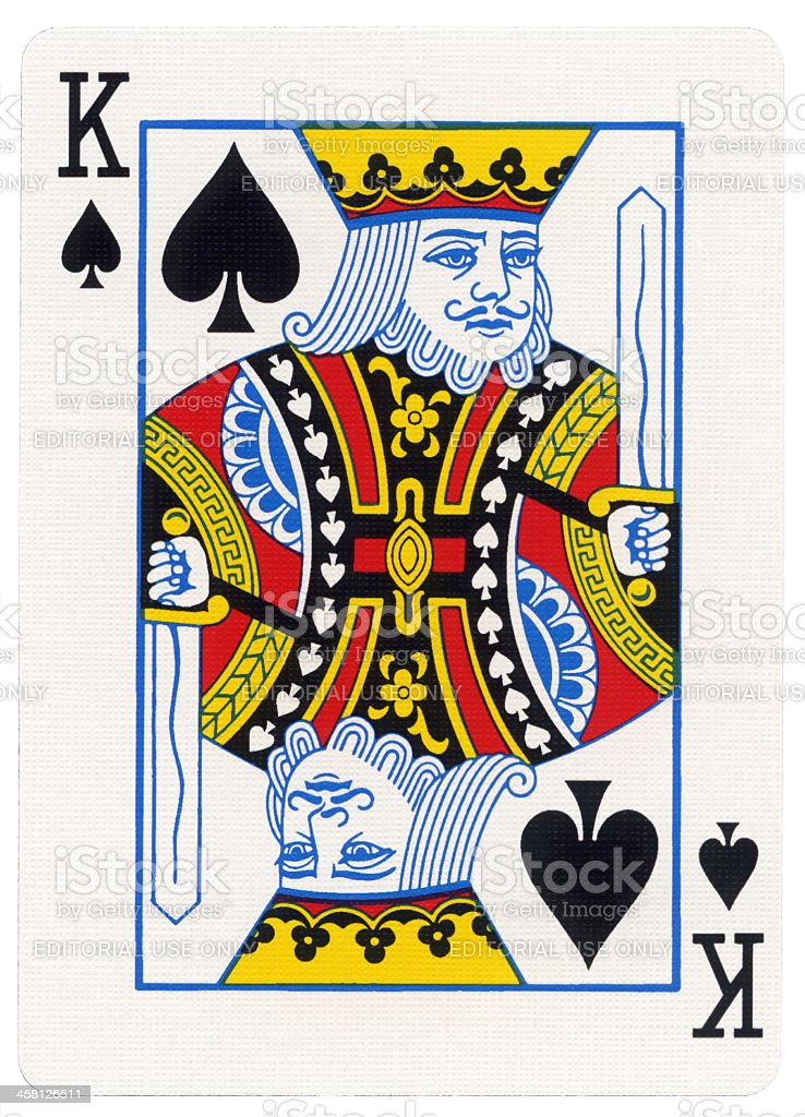 Playing Card - King of Spades stock photo