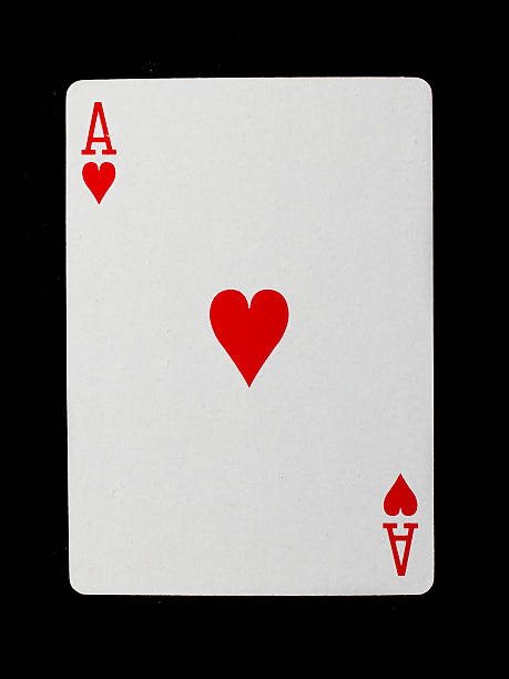 Playing card (ace) stock photo